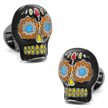 Black Day of the Dead Skull Cufflinks