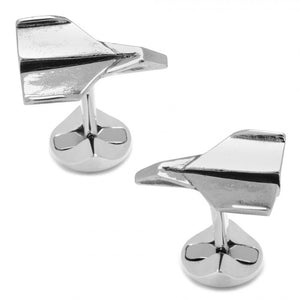 Sterling Paper Airplane Cufflinks