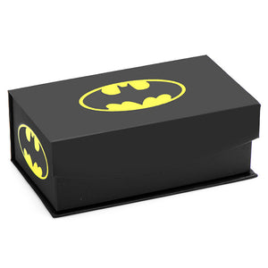 Batman Satin Black Cufflinks and Tie Bar Gift Set