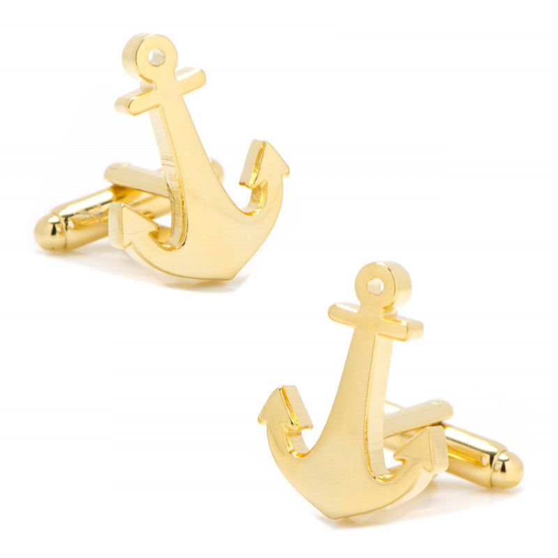 Gold Plated Anchor Cufflinks