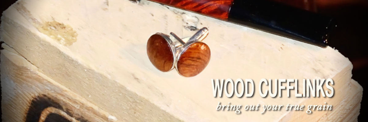 Custom Wood Cufflinks