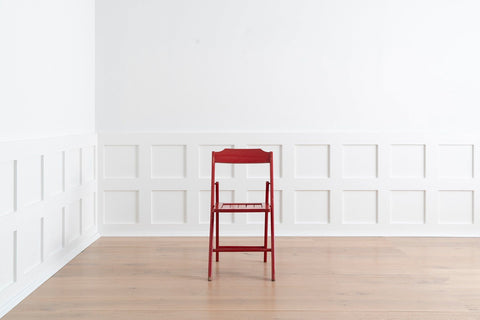 Red Painted Folding Chair
