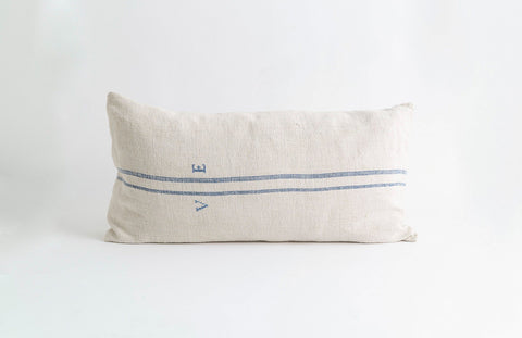 Large Initialed Grainsack Pillow