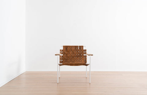 Rod + Weave Chair with Wood Arms