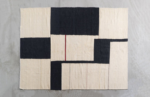 Abstract Expressionist Kilim Rug