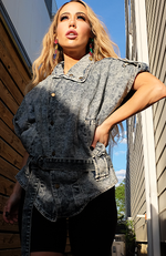 Free Bird Denim Short Sleeve Jacket