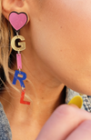 Uncoded Era Girl Gang Earrings, right ear