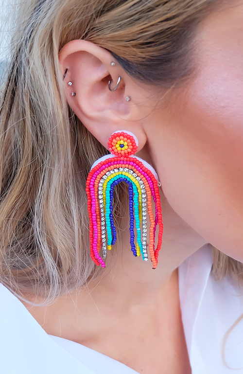 Hello Sunshine Rainbow Earrings