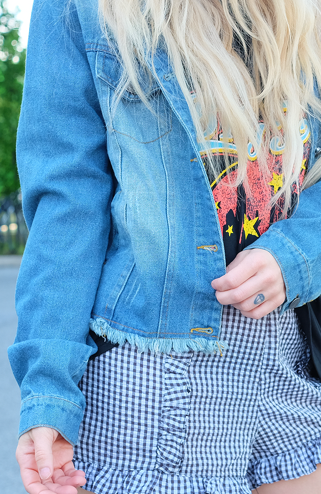 Rough Around the Edges Cropped Denim Jacket