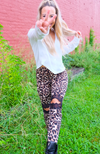 Natural Attraction Leopard + Lace Leggings