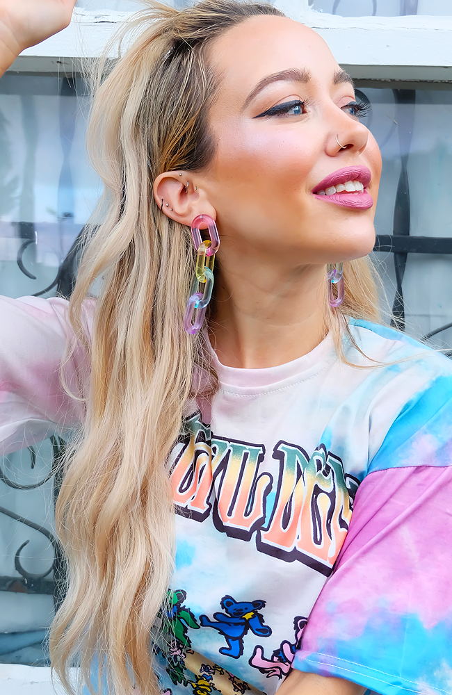 Off the Chain Pastel Drop Earrings