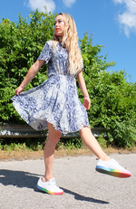 Snake It Happen Skater Dress