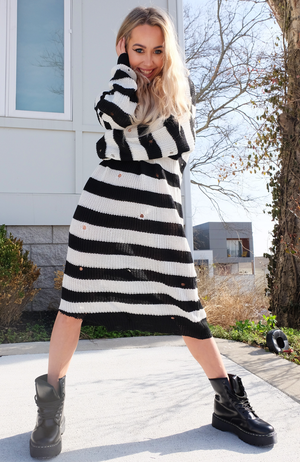 City Chic Slouchy Sweater Dress