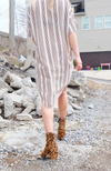 Uncoded Era - Unfinished Business Striped Shirt Dress, back image