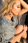 Uncoded Era Girl Gang Earrings - side view