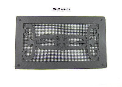 RGR series  Spanish style hammered wrought iron register vent grill screen - Bushere & Son Iron Studio Inc.