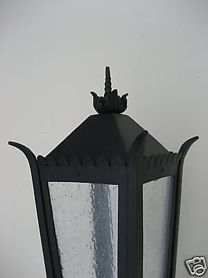 SCL1 Spanish colonial wrought iron exterior light