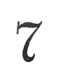 Spanish Mediterranean Rustic Hammered Wrought Iron Address House Numbers AN - Bushere & Son Iron Studio Inc.