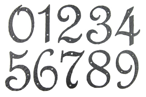 Classic Smooth Spanish Style Address Numbers