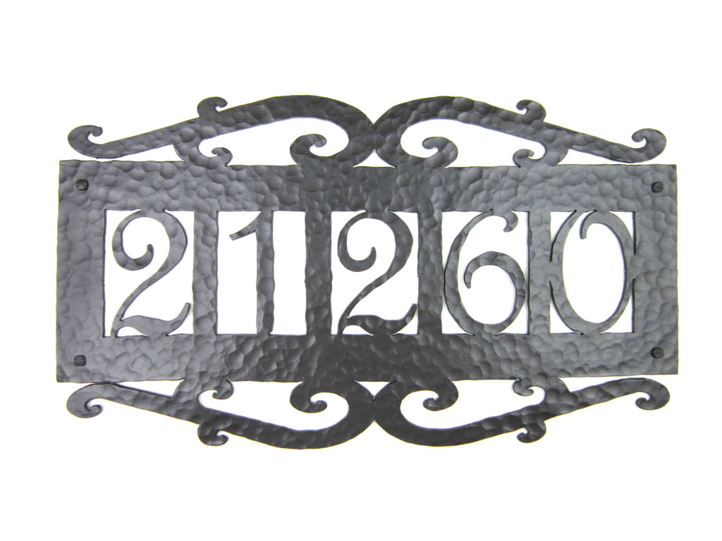 Spanish Mediterranean Wrought Iron 5 Number Address Plaque APH15