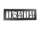 Rustic Custom Hammered Wrought Iron Address Plaque Horizontal APH25 (5number)