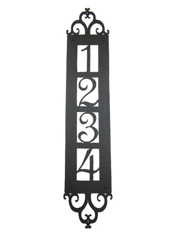 Spanish Style Fleur De Lis Cross Hammered Wrought Iron Doorbell Cover D1
