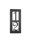 Rustic Custom Hammered Wrought Iron Address Plaque Vertical APV22 (2number) - Bushere & Son Iron Studio Inc.