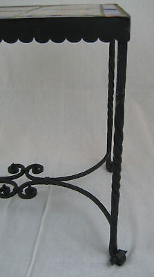 Spanish Revival California tile & wrought iron cocktail table