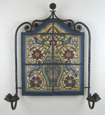 california tile malibu birds & flowers in wrought iron - Bushere & Son Iron Studio Inc.