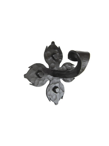 Rustic Spanish Fleur De Lis Wrought Iron Hook BHH1