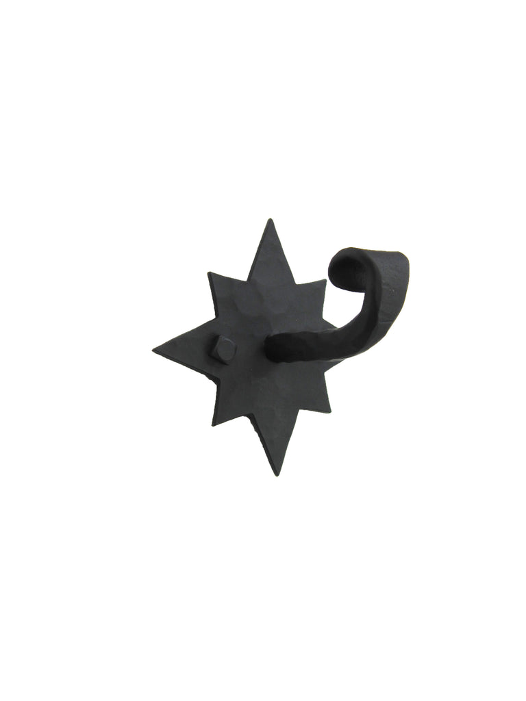 Rustic Star Wrought Iron Hook BHH8 - Bushere & Son Iron Studio Inc.