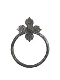 Rustic Spanish Flame Wrought Iron Towel Ring BHR3