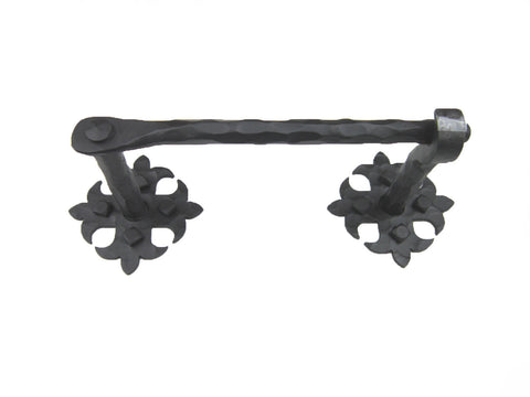 Rustic Spanish Fleur de Lis Wrought Iron Bathroom Hardware Set BHC1