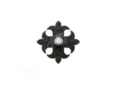 Spanish Fleur De Lis Cross Hammered Iron Doorbell Cover D1