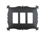 EPH132 Mediterranean Hammered Iron Switch Plate Cover Triple GFI Decora