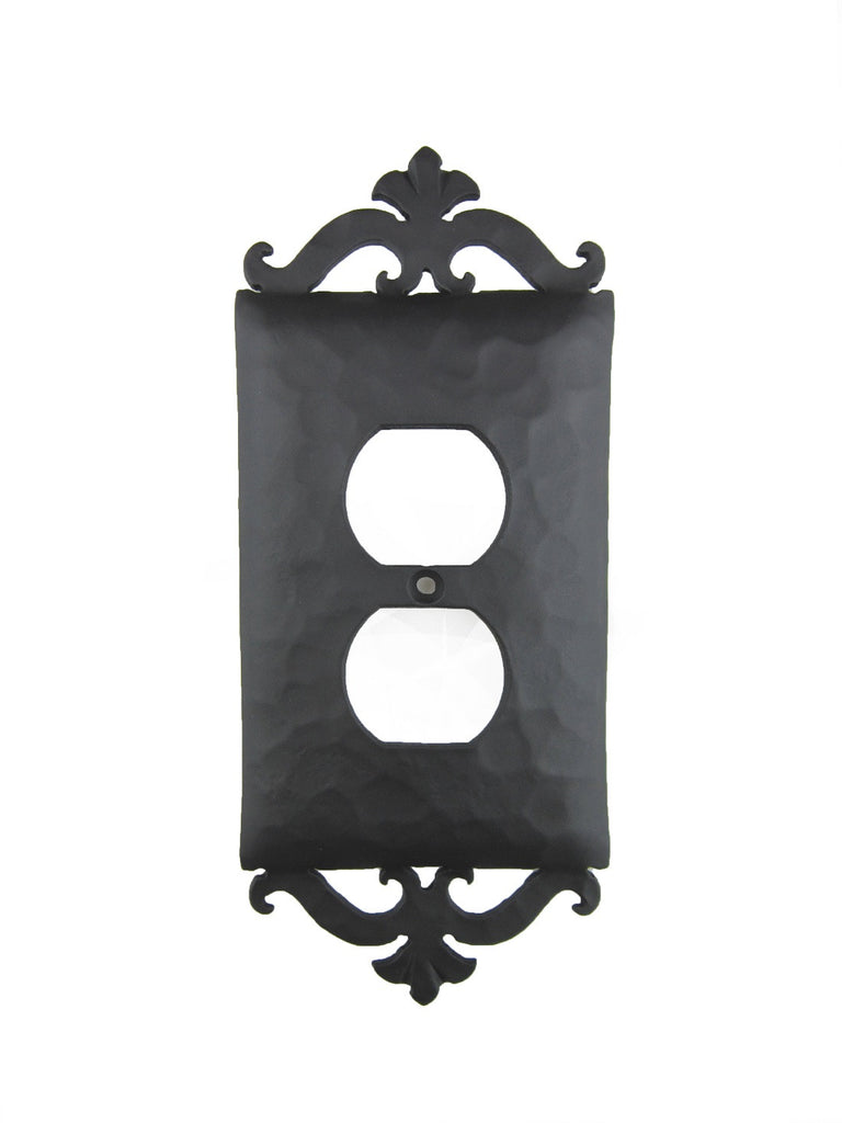 EPH21 Spanish Revival Scroll Iron Switch Plate Cover Single Duplex