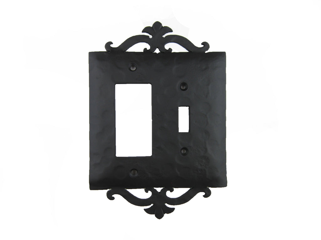 EPH27 Spanish Scroll Iron Switch Plate Toggle/GFI
