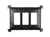 EPH332 Spanish Revival Iron Triple Switch Plate GFI Decora