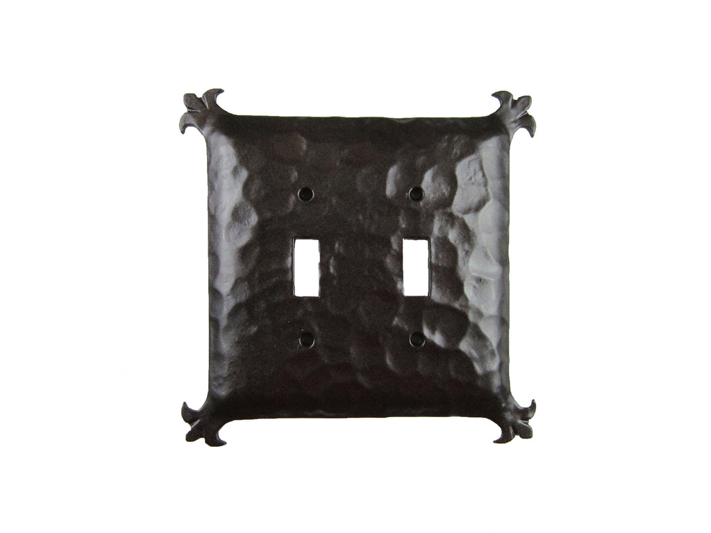 EPH34 Spanish Revival Iron Double Switch Plate Toggle
