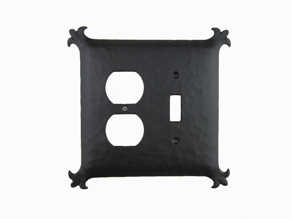 EPH36 Spanish Revival Iron Double Switch Plate Toggle/Duplex