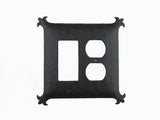 EPH39 Spanish Revival Iron Double Switch Plate Duplex/GFI