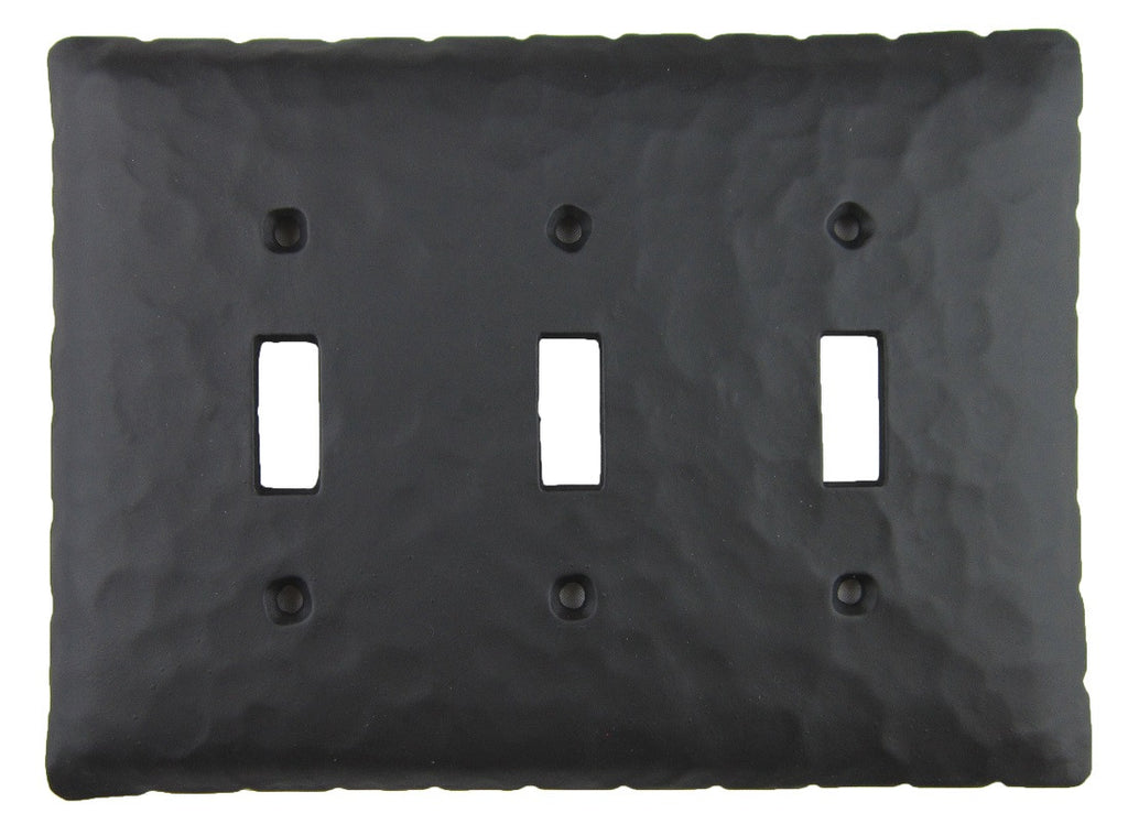 EPH431 Series Rancho Style Iron Triple Switch Plate Toggle