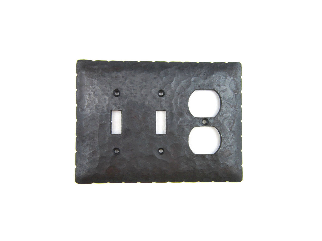EP4 Series Rancho Style Iron Triple Switch Plate Toggle and GFI Mix