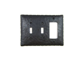 EP4 Series Rancho Style Iron Triple Switch Plate Toggle and GFI Mix - Bushere & Son Iron Studio Inc.