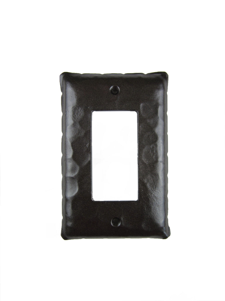EPH43 Rustic Rancho Style Iron Switch Plate Cover Single GFI