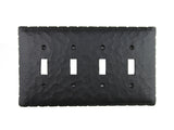 Rustic Rancho Style Iron Switch Plate Cover 4 Toggle Quad EPH441