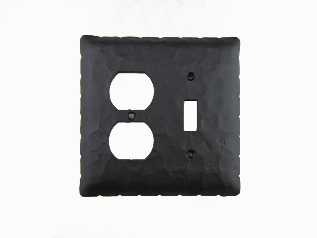 EPH46 Rancho Style Rustic Iron Switch Plate Toggle/Duplex