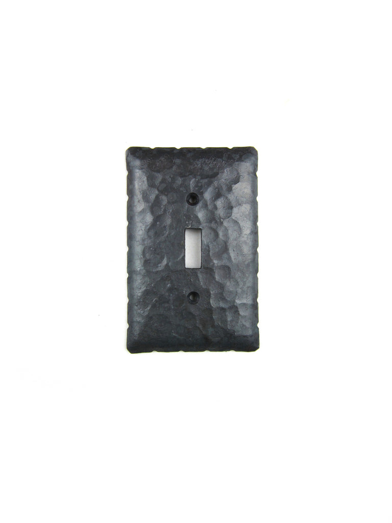EPH4 Rustic Rancho Style Iron Switch Plate Cover Single Toggle - Bushere & Son Iron Studio Inc.