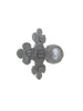 HK20 Rustic Spanish Revival Club Cross Iron Cabinet Knob Hardware - Bushere & Son Iron Studio Inc.