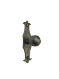 HK6 Spanish Revival Fleur De Lis Slim Iron Cabinet Knob - Bushere & Son Iron Studio Inc.
